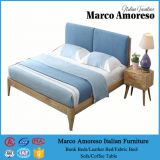 China Supplier Upholstered Fabric Padded Queen Size Bed Frame with Storage on Sale