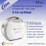 Facial Veins Treatment Portable Tatoo Removal 1064nm&532nm Long Pulsed Nd Yag Hair Removal Laser 1000W