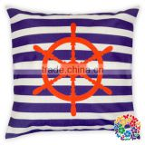 Purple White Stripe With Arrows Printed Cotton Pillow Cover Cushion Throw Pillow Covers Wholesale