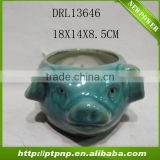 Decorative home and garden ceramic animal plant pots