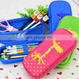 wholesale back to school zipper lock polyester pencil case