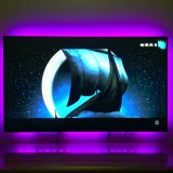 TV Bias Lighting USB Powered LED Light Strip for 47-50 Inches TV Back Decor 20 color options Dimmable Remote