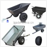 Heavy duty poly farm dump ATV trailer