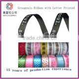 Polyester Grosgrain ribbon for clothes