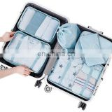 6 Set Packing Cubes Travel Luggage Waterproof Organizers