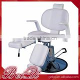 Beiqi 2016 Hydraulic pump Stainless Steel Circular Base Adjustable Beauty Barber Salon Chair Massage Bed Manicure Furniture