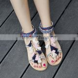 B10567A china wholesale lady summer beach flat sandals