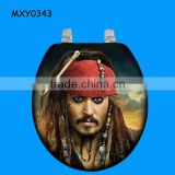 Cool pirate captain custom resin Novelty Toilet Seat