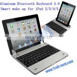 High Quality Wholesale Wireless Aluminum Bluetooth Keyboard 3.0 for iPad 2/3/4/5
