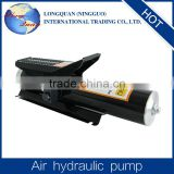 The Compact design foot pedal air hydraulic pump