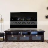 Sideboard tv ANTIQUE dark colour with 3 doors teak wood furniture