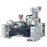 Three Color Plastic PVC Slipper Strap Injection Moulding Machine