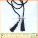 newest fashion good quality black fringe with lovely fantastic metal ring