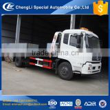 china cheapest euro3 diesel 180hp 8t flatbed tow truck dimensions