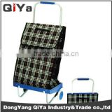 Wholesale Promotional Wheeled Foldable Collapsible Dolly Shopping Trolley Bags Grocery Vegetable Supermarket Shoping Cart Yiwu