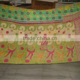 <b>Cotton</b> Gudri Quilts , Vintage Sari <b>Fabric</b> Quilt