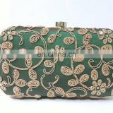 Golden Green Clutch