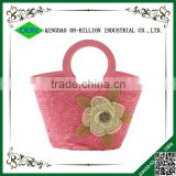 Cheap wheat straw bag with handles