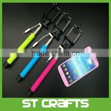 Cable Take Pole Mobile Cell Phone Extendable Wired Selfie Handheld Stick Monopod For cell phone