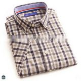 T-MSS525 Summer Men Casual Short Sleeve New Checks Shirts Designs