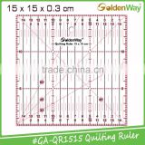 New Launched 5 Colors Patchwork Square Quilting Ruler for Fabric Cutting