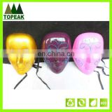 OEM halloween party mask,carnival mask,pvc mask halloween face mask Masquerade Halloween Karneval Gold lace Glitter mask