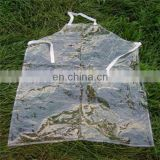 foldable plastic coated clear pvc apron