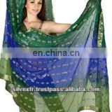 belly dancing rayon silk tye dye sari veils