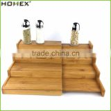 4 Tier Expanding Spice Rack Shelf Stand in Bamboo/Homex_FSC/BSCI Factory