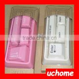 UCHOME Mini keyboard stationery set with mini brush and mini stapler