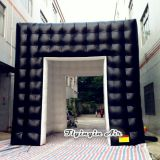 Outside Black Inside White Inflatable Tents with Two Doors for Trade Show