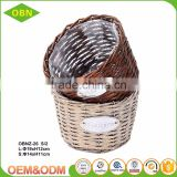 Outdoor cheap handmade wicker garden baskets for sale