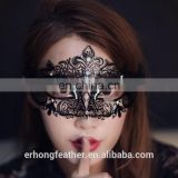 New Masquerade Halloween Exquisite Lace Half Face Mask For Lady Black White Option Fashion Sexy