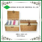 Hot sell woven wicker clothes basket storage unit