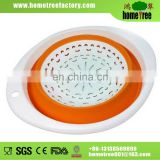 L Plastic Round Kitchen Rice Vegetable Foldable Seive