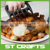Silicone BBQ Cooking Grill Glove Mitts and Meat Shredder Bear Claw Set