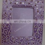 hand made embroidered photo frame design
