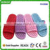 Customized Open toe hotel guest slippers,Hole shower slippers