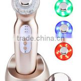 Best selling CE approval rechargeable portable skin care machine/ ultrasonic facial massager beauty products at home use