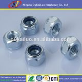 Blue bright zinc hex nut/ Cap nut - anti-loose nut 4.8 8.8