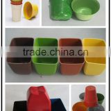 Factory price Long-lasting Diswasher safe bamboo fiber product degradable flower pot