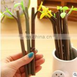 0.38mm Tree branches of the dustproof plug neutral pen Creative lovely plants pen Kawaii Canetas Material Escolar
