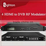 digital tv headend equipment avc/h.264 hdmi to rf Encoder Modulator with 1 asi Multiplexing