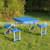 Low Price Outdoor Plastic Suitcase Foldable Camping Picnic Dining Picnic Table Set