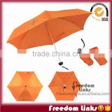 19 inch 6K Orange Smart 5 Folding Umbrella Custom Logo