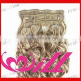 tangle free wholesale rapunzel hair extensions clip in curly hair extension remy clip in hair extension