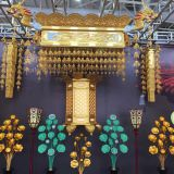 2.4m lotus dragon canopy Gold-plated Lotus flowers for the Buddha