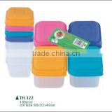 110ml 4pcs mini plastic food meal prep Containers and bento storage lunch box boite a vivres die Kasserolle