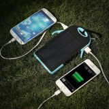 Dual usb 5000mah waterproof solar charger power bank with LED TORCH