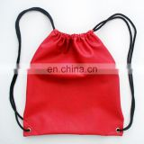 Unisex Black Simple Promotional PU Drawstring Bag